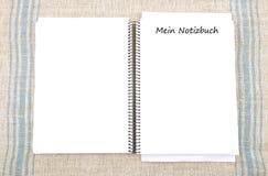 Spiraalvormig boek Royalty-vrije Stock Foto