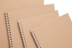 Spiraalvormig bruin notitieboekje Stock Fotografie
