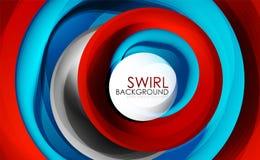 Spiraalvormig de motie van wervelings stromend lijnen 3d vector abstract digitaal ontwerp als achtergrond Roterend concept Stock Foto