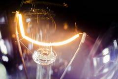 Spiraalvormig gloeidraadlicht Royalty-vrije Stock Afbeeldingen