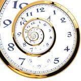 Spiraalvormig horloge Royalty-vrije Stock Fotografie