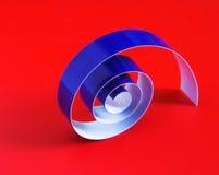 Spiraalvormig lint Royalty-vrije Stock Fotografie