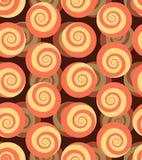 Spiraalvormig naadloos patroon 3d achtergrond van slakken Stock Afbeeldingen