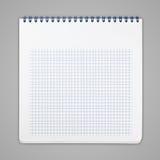 Spiraalvormig notitieboekje met geregelde document bladen Stock Afbeeldingen