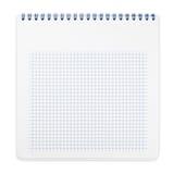 Spiraalvormig notitieboekje met geregelde document bladen Royalty-vrije Stock Afbeelding