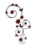 Spiraalvormig ornament in rood Stock Afbeeldingen