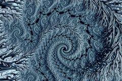 Spiraalvormig patroon - abstract digitaal geproduceerd beeld Royalty-vrije Stock Foto's