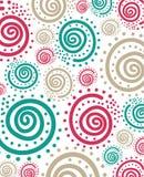 Spiraalvormig puntpatroon abstracte achtergrond Stock Foto