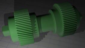 Spiraalvormig toestel - Getande pignon vector illustratie