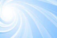 Spiraalvormige 3D, blauw op wit Stock Afbeeldingen