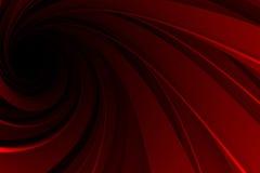 Spiraalvormige 3D, rood op zwarte Stock Foto's