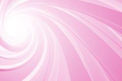 Spiraalvormige 3D, roze op wit Stock Afbeelding