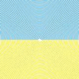 Spiraalvormige achtergrond Hemel en Zandstrand De zomerkleuren Vector Stock Afbeelding