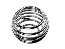Spiraalvormige ballon Stock Afbeeldingen