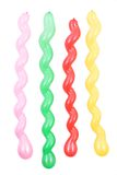 Spiraalvormige ballons Stock Afbeeldingen