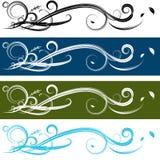 Spiraalvormige Bannerreeks Stock Afbeelding