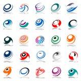Spiraalvormige beweging en omwenteling. De elementen van het ontwerp. Royalty-vrije Stock Foto's
