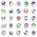 Spiraalvormige beweging en omwenteling. De elementen van het ontwerp. Royalty-vrije Stock Afbeeldingen