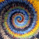 Spiraalvormige beweging Veelkleurige geweven achtergrond Stock Fotografie
