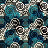 Spiraalvormige blauwe naadloos stock illustratie