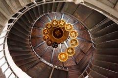 Spiraalvormige cirkeltrap Royalty-vrije Stock Afbeeldingen