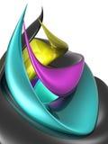 Spiraalvormige CMYK Stock Afbeelding