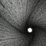 Spiraalvormige concrete tunnel stock afbeelding