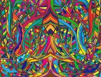 Spiraalvormige decoratieve krabbels Stock Foto
