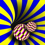 Spiraalvormige Draaikolkvector Illusievector Optisch art Psychedelische Wervelingsillusie Bedrieglijke teleurstelling, geometrisc royalty-vrije illustratie