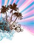 Spiraalvormige eilandvector Stock Afbeelding