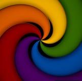 Spiraalvormige elementen van alle spectrumkleuren. Royalty-vrije Stock Foto