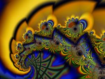 Spiraalvormige fractal Royalty-vrije Stock Afbeelding