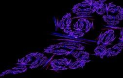 Spiraalvormige fractal purpere violette zwarte Stock Afbeeldingen