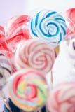 Spiraalvormige Fruitlollys Royalty-vrije Stock Foto