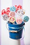 Spiraalvormige Fruitlollys Stock Foto