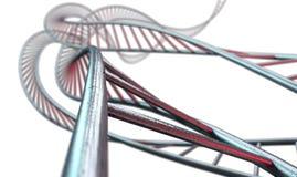 Spiraalvormige Geneticabundels Royalty-vrije Stock Fotografie