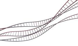 Spiraalvormige Geneticabundels Stock Fotografie
