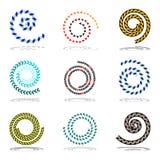 Spiraalvormige geplaatste ontwerpelementen Royalty-vrije Stock Fotografie