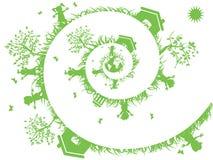 Spiraalvormige groen Stock Afbeeldingen