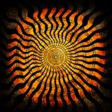 Spiraalvormige grungeachtergrond Royalty-vrije Stock Afbeeldingen