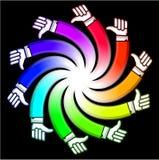 Spiraalvormige hand Stock Afbeeldingen