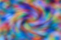 Spiraalvormige kleurrijke achtergrond in mozaïekvorm met een beweging Royalty-vrije Stock Foto's