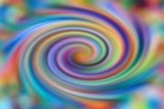 Spiraalvormige kleurrijke achtergrondn diverse kleuren Stock Fotografie