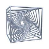 Spiraalvormige kubussen stock illustratie
