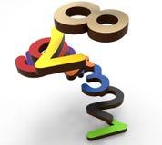 Spiraalvormige ladder van aantallen vector illustratie