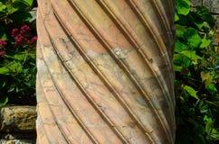 Spiraalvormige Marmeren Kolom Royalty-vrije Stock Foto's