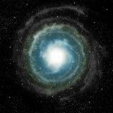 Spiraalvormige melkweg in diepe kosmische ruimte Royalty-vrije Stock Foto's