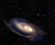 Spiraalvormige melkweg in diepe ruimte. Stock Afbeelding