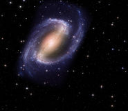 Spiraalvormige melkweg in diepe ruimte Stock Foto's