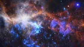 Spiraalvormige melkweg in diepe ruimte Elementen van dit die beeld door NASA wordt geleverd royalty-vrije stock fotografie